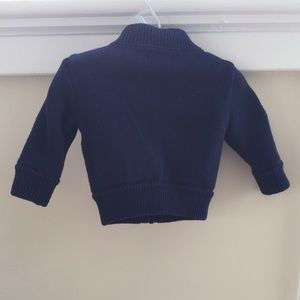 Ralph Lauren Shirts & Tops - Ralph Lauren Baby Boy Navy Zip-Up Cardigan 6M
